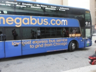 Our bus that took us to Chicago from Detroit