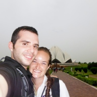 Happy To Be At Lotus Temple