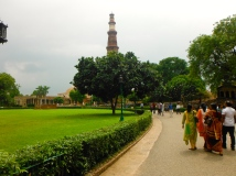 Qutb Minar from Across the Grounds