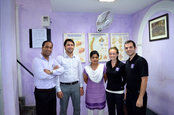 Our India Family (From left to right: Dr Shah, Dr. Nayeem , Dr. Gaity, Amanda, Adam)