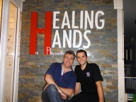 Our Italian Clinical Instructor for the day at Healing Hands Physiotherapy Clinic in Sukhumvit, Thailand!