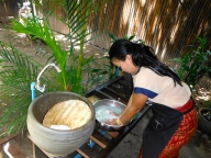 Nook showing us how to make sticky rice - properly!