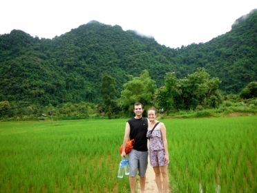 Trek to the Caves - Through the Rice Fields
