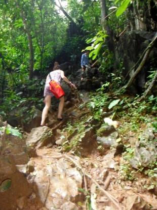 Treacherous Trek Up to Tham Loub (Low Cave)