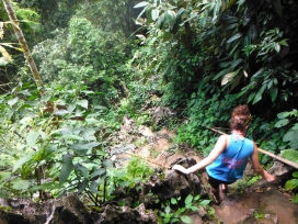 Climbing Down From Pouk Ham Cave