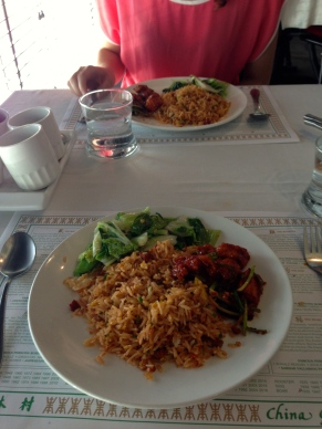 Our delicious meal at China Garden.