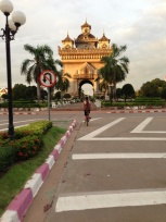 Patuxai or Arc de Triomphe is a monument dedicated to the soldiers lost during Lao's fight for independence from France.