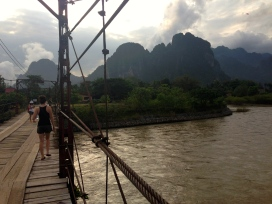 The bridge we cross to get to our guesthouse.