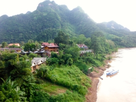 View of the many guesthouses in Ban Sop Houn (across the bridge from Nong Khiaw)