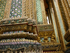 Impressive detail on the buildings at the Grand Palace Grounds.