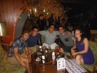Enjoying some drinks at Chek Inn 99 before the Calypso Cabaret.