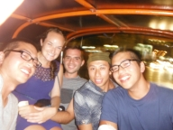 Packed into a tuk tuk like sardines on our way to the Calypso Cabaret.