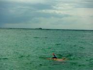 Adam Snorkelling at Salad Beach