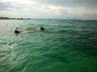 Amanda Snorkelling at Salad Beach