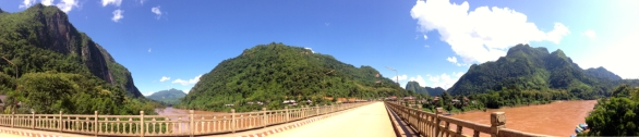 Spectacular views on the bridge in Nong Khiaw