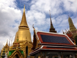 Impressive structures next to Wat Phra Kaew in the Grand Palace grounds.
