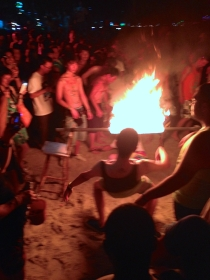 I guess it makes the traditional game of limbo a little bit more interesting (and dangerous) when the stick is on fire...