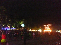 Crowded Beach at the Full Moon Party