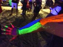 Amanda's Fluorescent 'Anatomically-Similar' Arm Painting