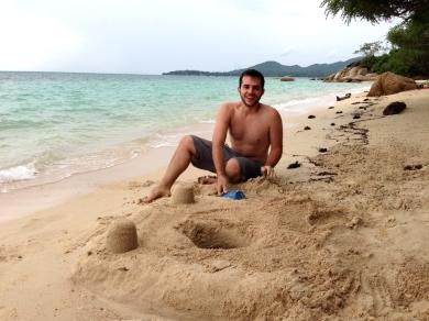 Adam Building His Sand Castle