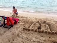 Amanda Building Her Sand Castle