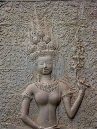 The Only Apsara (female spirit) Carving That is Smiling/Showing Her Teeth Out of Almost 2000 Throughout Angkor Wat Temple