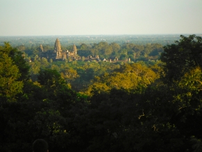 View of Angkor Wat From the Top of Phnom Bakheng