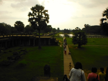View of Angkor Wat Grounds From Entrance of the Temple