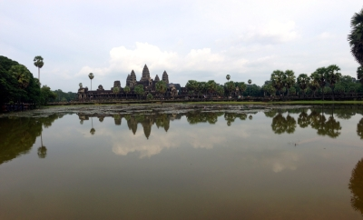 View of Angkor Wat from Across the Northwest Pond