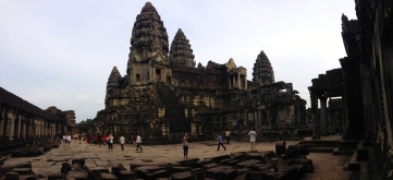 View of the Central Towers from the Second Level of Angkor Wat