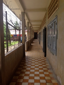 Hallway of One of the Buildings at Tuol Sleng Genocide Museum