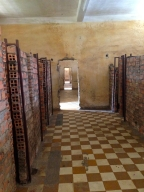 Rows of Brick Cells in Tuol Sleng Genocide Museum