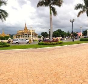 Riverside Walk in Phnom Penh