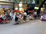 This is a shot of some other tourists getting a rickshaw ride - taken from us in our rickshaw!
