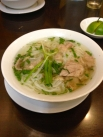 One of Vietnam's most famous dishes: a simple broth with tender beef, green onions, lemon grass, and rice noodles.