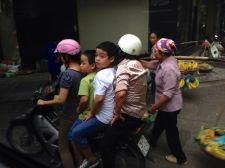 It's amazing what the Vietnamese can fit on their motorbikes!