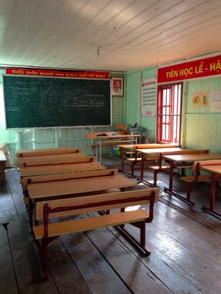 Elementary School Classroom at the Fishing Village in Ha Long Bay
